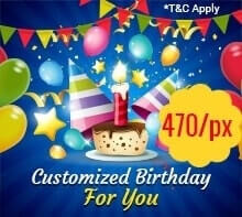 Celebrate your Customized Birthday in style